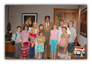 Governor Richardson with 2005 group
